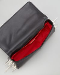 Christian Louboutin Marquise Spiked Clutch Bag Black black - Lyst