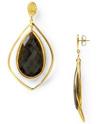 Coralia Leets - Labradorite Jumbo Stone Post Earrings - Lyst