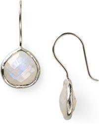 Coralia Leets - Moonstone Mini French Wire Earrings - Lyst