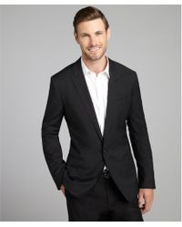 Dolce & Gabbana Charcoal Wool Covered Single Button Blazer - Lyst