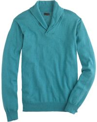 J.Crew Cotton-Cashmere Shawl-Collar Sweater - Lyst