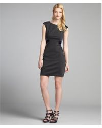 Max & Cleo - Slate and Navy Jersey Knit Banded Bodice Angelina Dress - Lyst