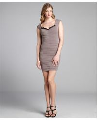 Max & Cleo Taupe Jersey Knit Tiered Lace Trimmed 'Susan' Dress - Lyst