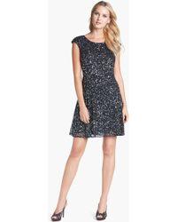 Pisarro Nights Sequin Fit Flare Dress - Lyst