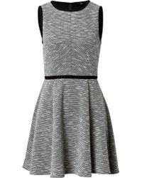 Tibi Dress In Black/White Multi - Lyst