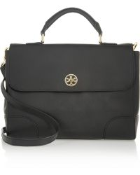 b5b77d2aa548 Tory Burch - Robinson Textured-leather Satchel - Lyst