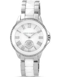 Vince Camuto - Two Tone White Ceramic and Silver Tone Watch 38mm - Lyst