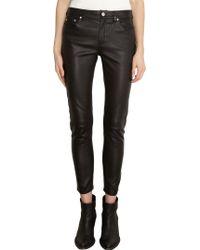Acne Studios Skin Leather Pants - Lyst