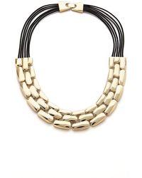 Adia Kibur - Layered Row Necklace - Lyst