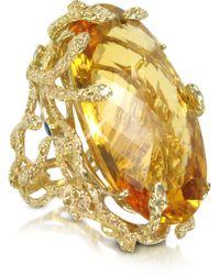 Bernard Delettrez - Medusa Gold and Citrine Ring - Lyst