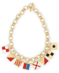 C. Wonder Nautical Flags I Love You Charm Necklace - Lyst