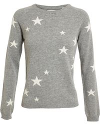 Chinti & Parker Star Patterned Cashmere Jumper black - Lyst