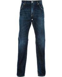 Dolce & Gabbana Distressed Straight Leg Jean - Lyst