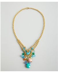 Wendy Mink - Gold and Tiered Multi Stone Bead Cluster Necklace - Lyst