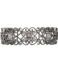 Bochic Diamond Scroll Cuff Bracelet - Lyst
