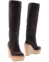Car Shoe Highheeled Boots - Lyst