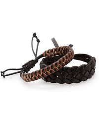 Mango | Set Of Two Leather Bracelets | Lyst