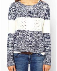Hilfiger Denim - Stripe Aran Knit Jumper - Lyst