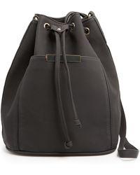 Mango Touch Metal Detail Bucket Bag - Lyst