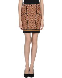 Missoni Mini Skirt beige - Lyst