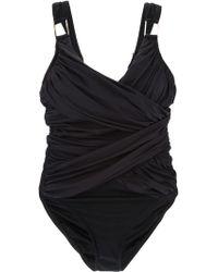 Spanx - Draped Swimsuit - Lyst