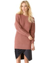 Cedric Charlier Chunky Knit Sweater - Lyst