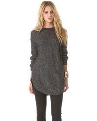 DKNY Novelty Stitch Pullover - Lyst
