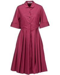 Jil Sander Kneelength Dress - Lyst
