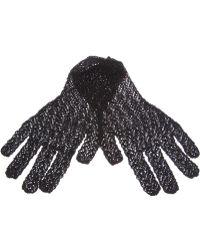 Alaïa - Crochet Gloves - Lyst