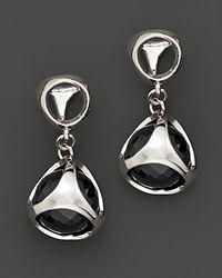 Di Modolo Sterling Silver And Black Onyx Triadra Icon Earrings Lyst
