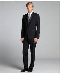 Dolce & Gabbana  Wool Silk Blend Satin Lapel Tux with Flat Front Pants - Lyst