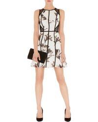 Karen Millen Soft Floral Print Dress - Lyst