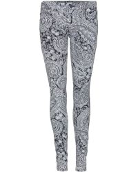 Mother The Looker Paisley-Print Jeans - Lyst