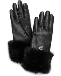 Tory Burch - Fur Cuff Glove - Lyst