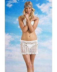 Beauty & The Beach Ava Crochet Skirt - Lyst