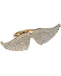 CC Skye Angel Wing Pave Ring - Lyst