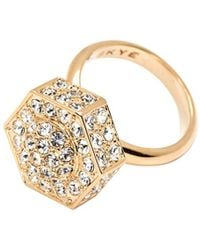 CC Skye Bolt Pave Ring - Lyst