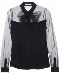 Jason Wu Tulle and Silk Blouse - Lyst