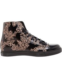 Marc Jacobs Floral Print Leather Baseball Boots - Lyst