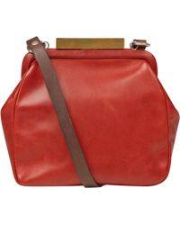 Ally Capellino - Red Kiki Mini Frame Bag - Lyst
