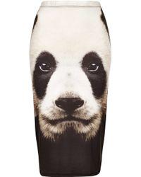Topshop Panda Print Tube Skirt - Lyst