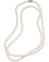 Brooks Brothers 10Mm Glass Pearl Necklace With Deco Clasp - Lyst