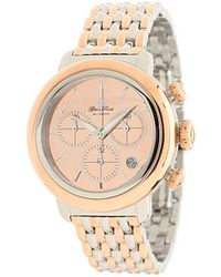 Glam Rock - 40mm Twotone Rose Gold Plated Chronograph Watch with 7link Twotone Bracelet - Lyst