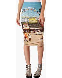 Topshop Big Wheel Tube Skirt - Lyst