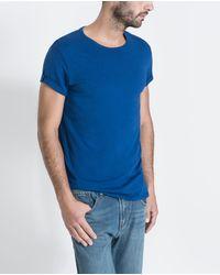 Zara Pima Tshirt - Lyst