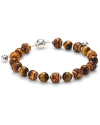 Gucci Bamboo, Tiger'S Eye & Sterling Silver Beaded Bracelet - Lyst
