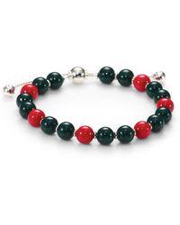 Gucci Britt Wood & Sterling Silver Beaded Bracelet - Lyst