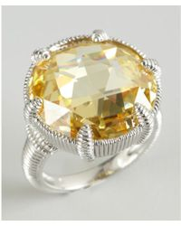 Judith Ripka Sterlings Silver and Canary Crystal Eclipse Ring - Lyst