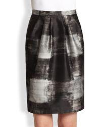 Max Mara Giostra Print Mikado Skirt - Lyst