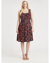 Melissa Masse Contrast-Belt Silk Dress - Lyst